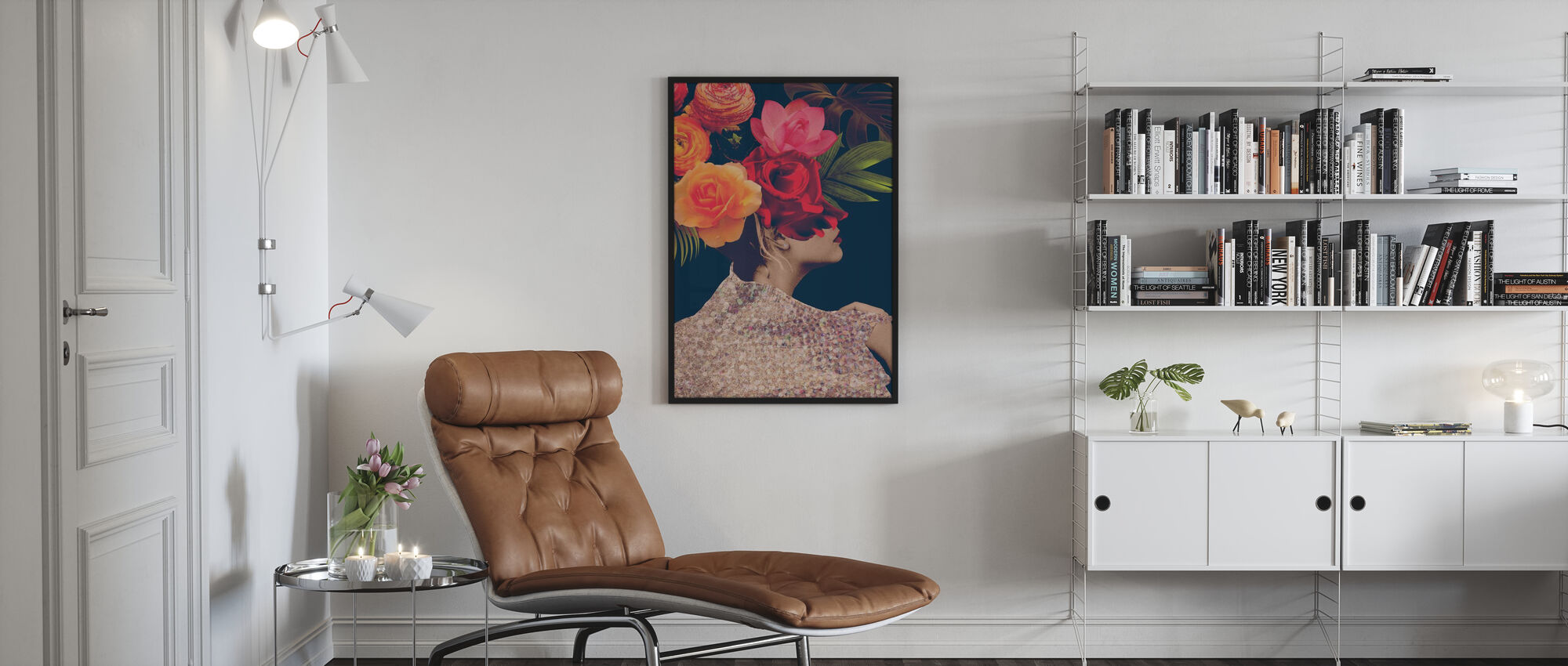 Fleur Collage - Poster - Living Room