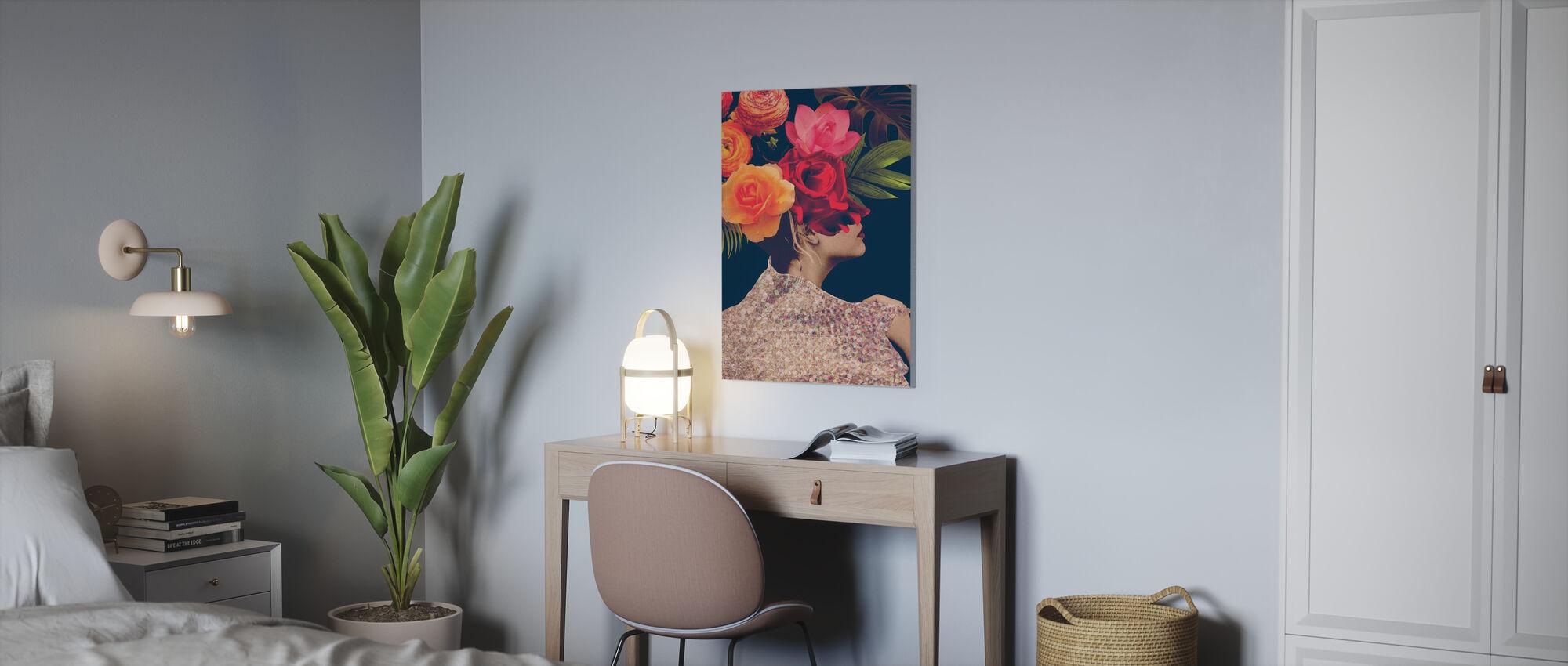 Fleur Collage - Canvas print - Office