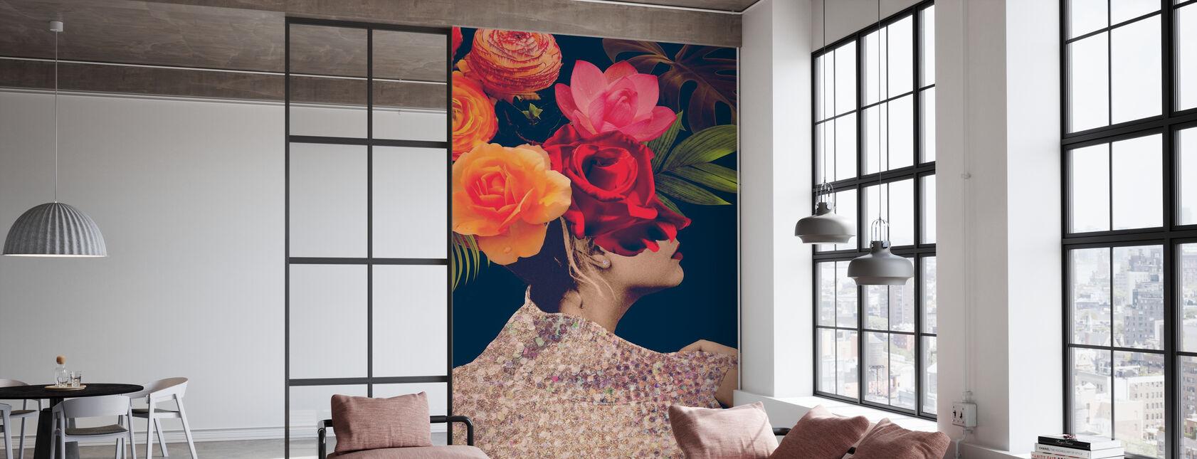 Fleur Collage - Wallpaper - Office