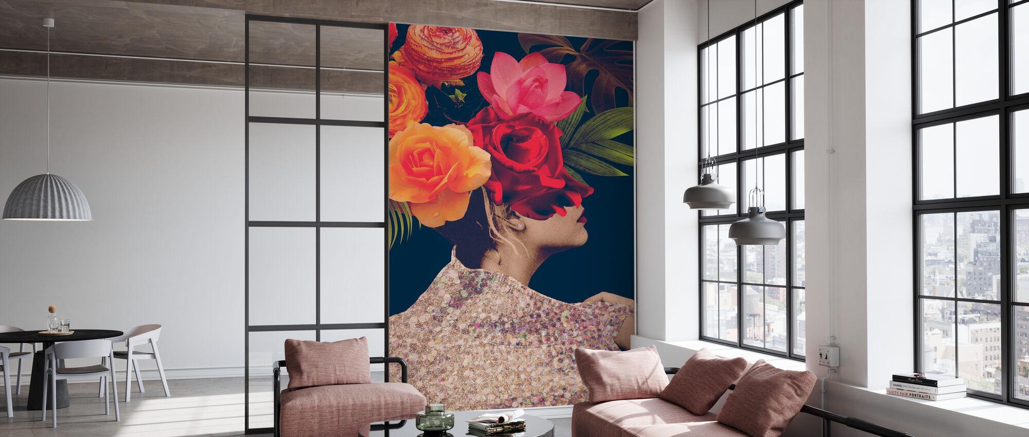 Fleur Collage - Tapet - Kontor