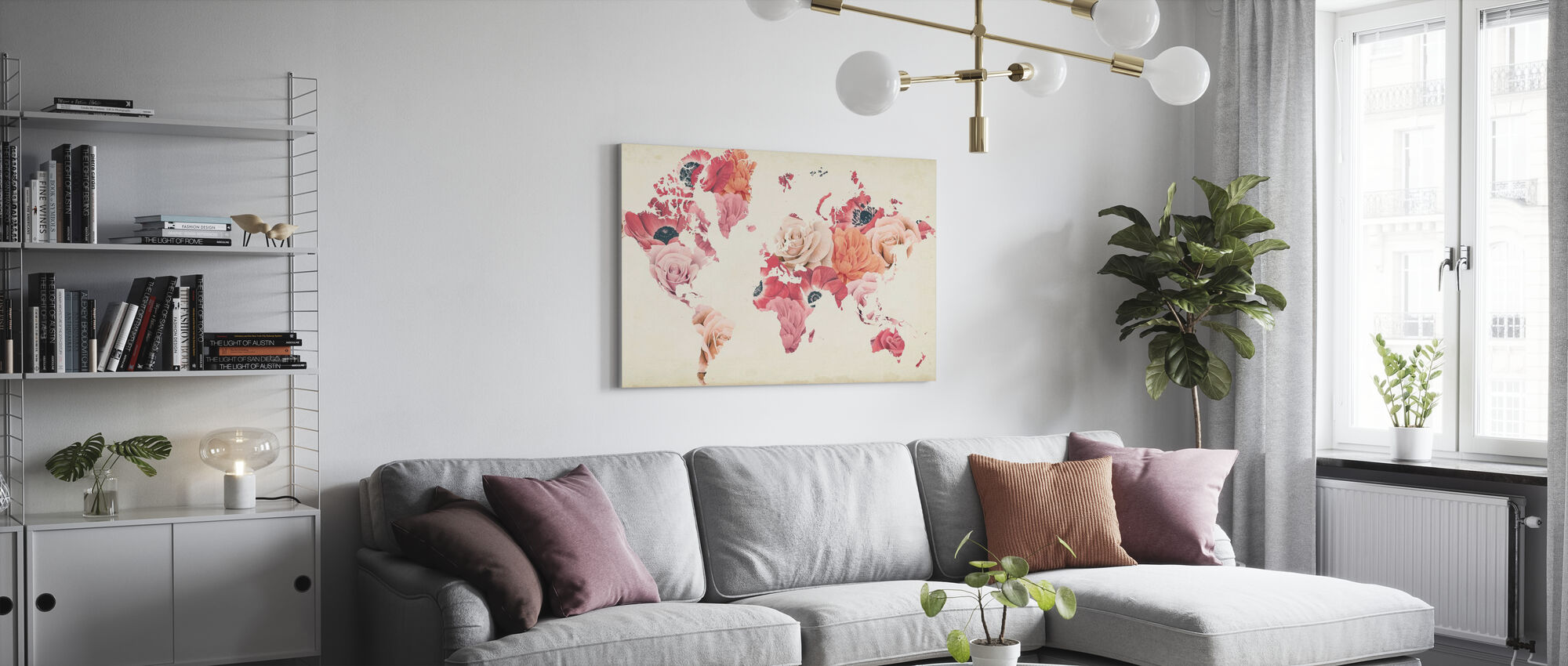 Earth Laughs in Flowers - Canvas print - Living Room