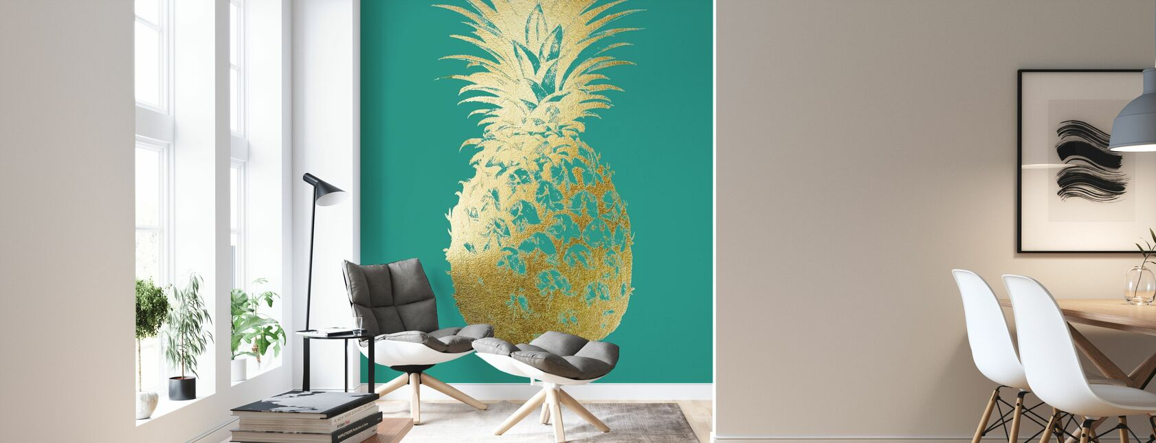 Ananas Emerald - Tapetti - Olohuone