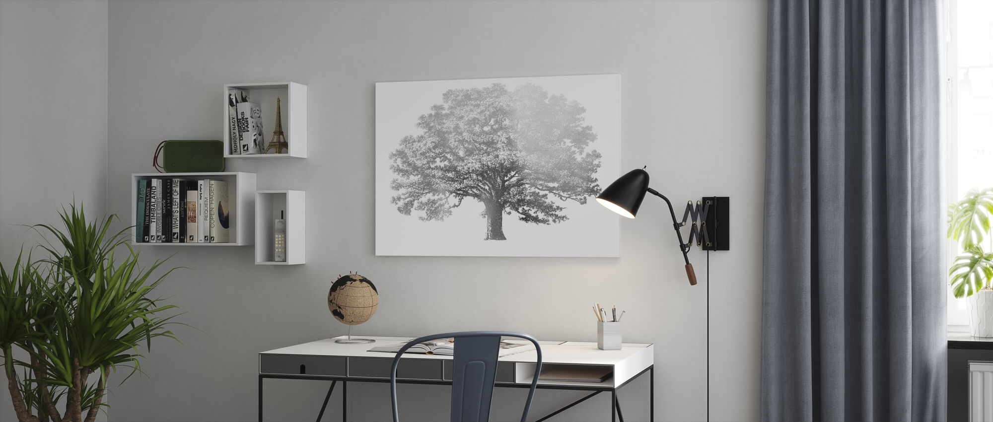 Elephant Tree - Canvas print - Office