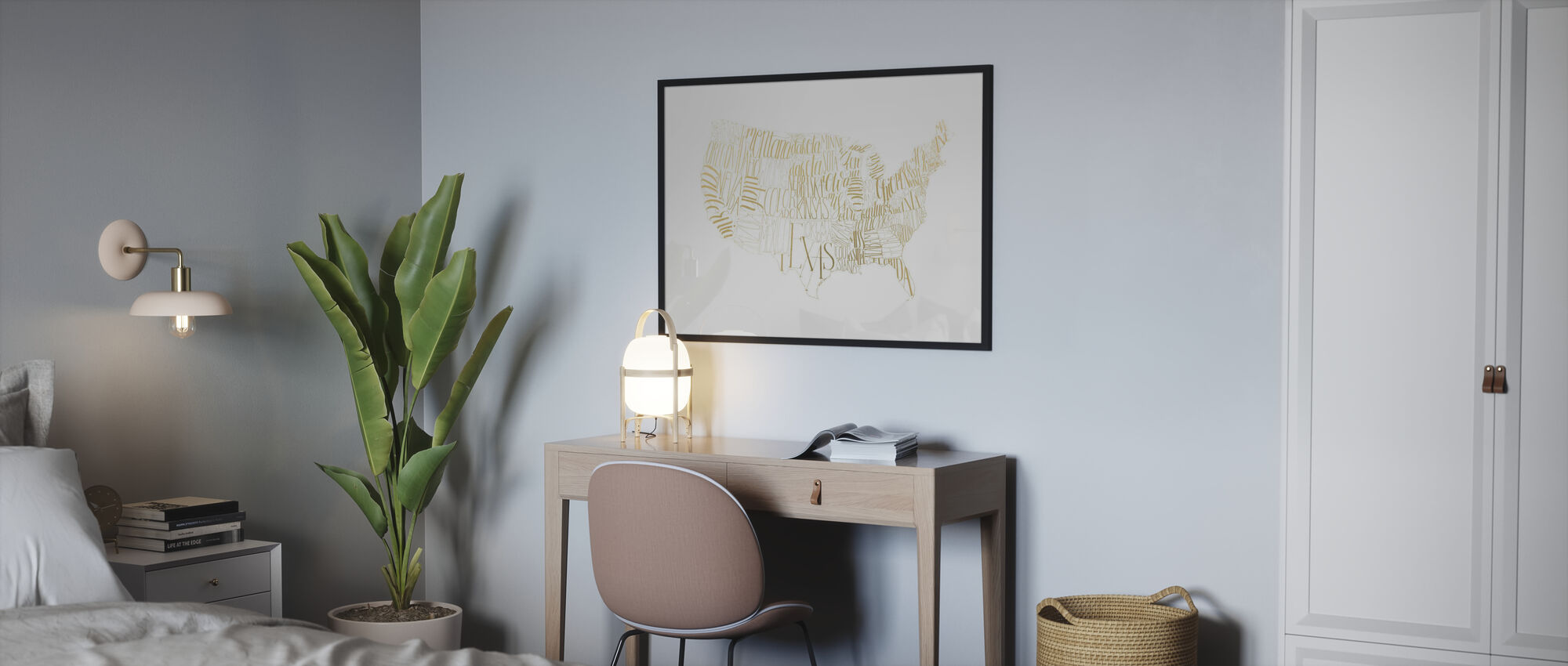 USA Map - Poster - Bedroom