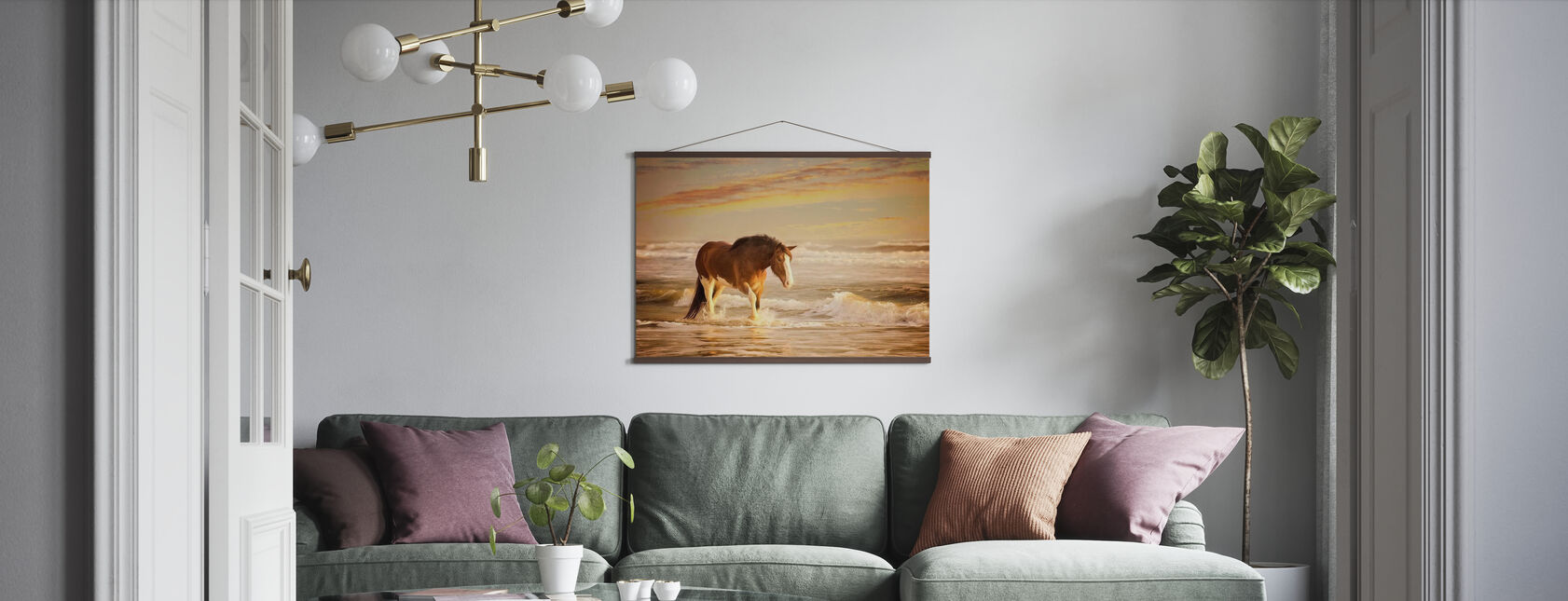 Sunkissed Horses - Poster - Living Room