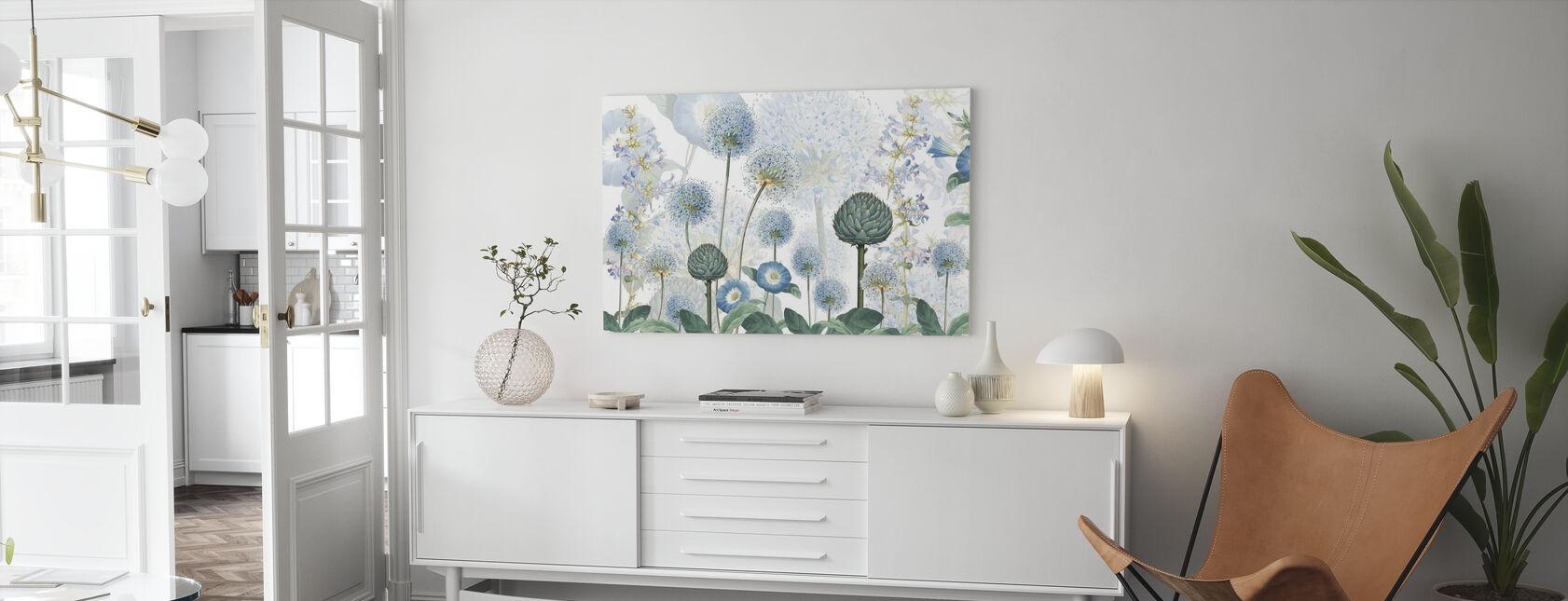Blaue Wildwiese - Leinwandbild - Wohnzimmer