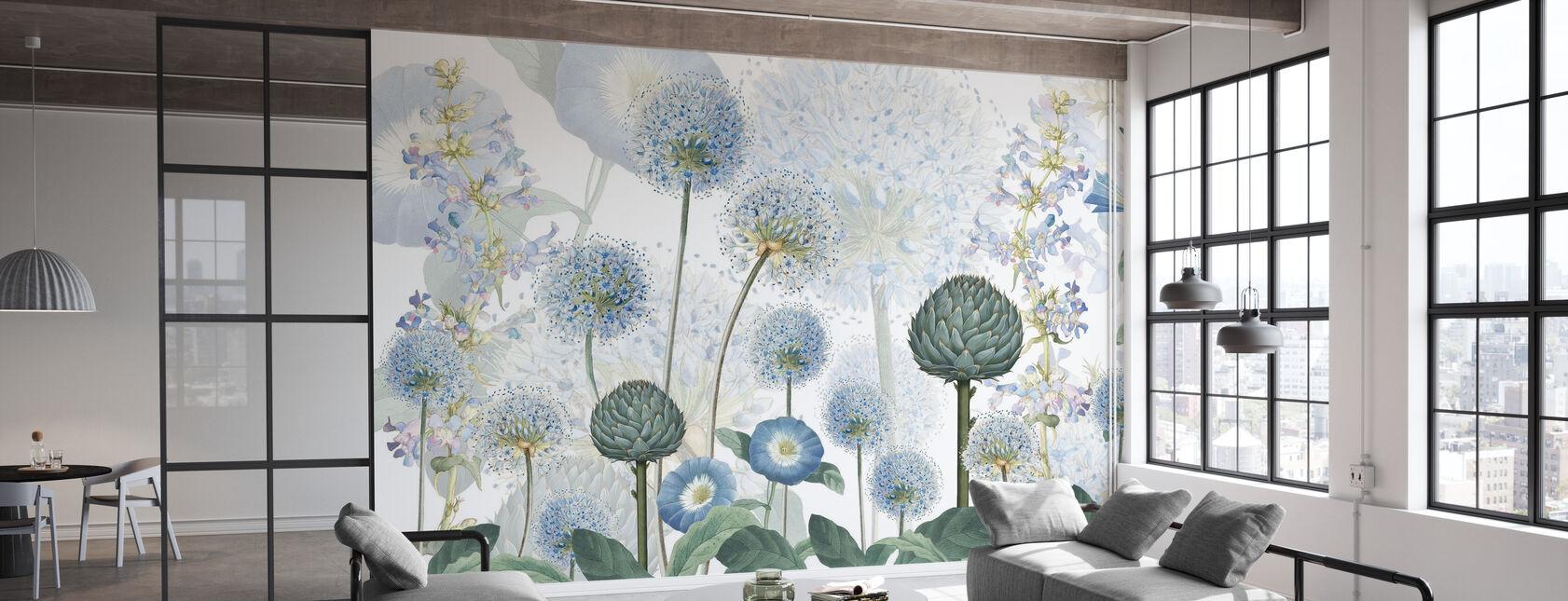 Blue Wild Meadow - Wallpaper - Office