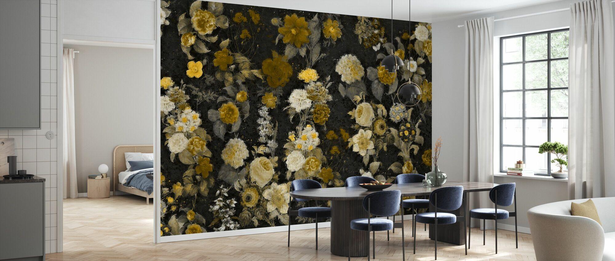 Flower Samba - Camel - Wallpaper - Kitchen