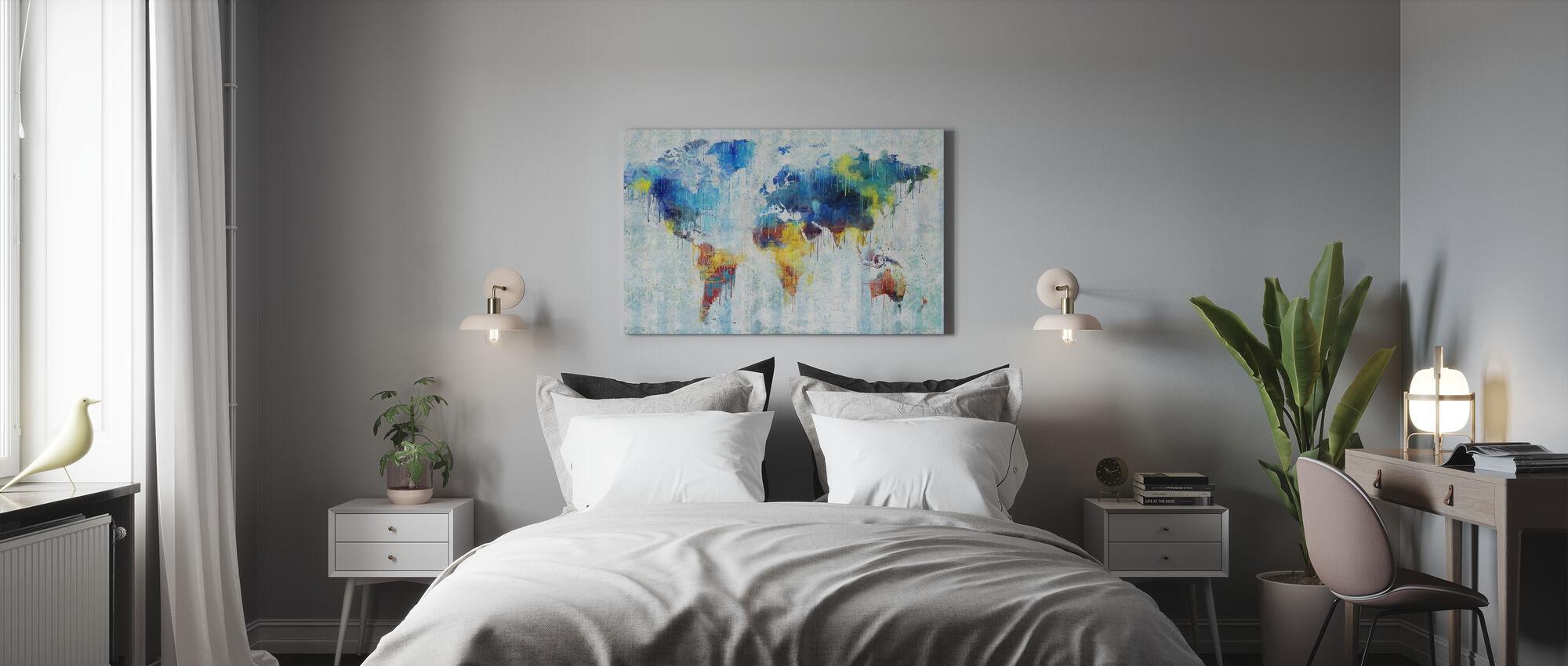 Vloeiende kleur kaart - Canvas print - Slaapkamer