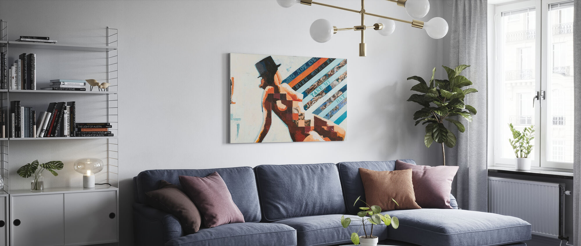 Hat - Canvas print - Living Room