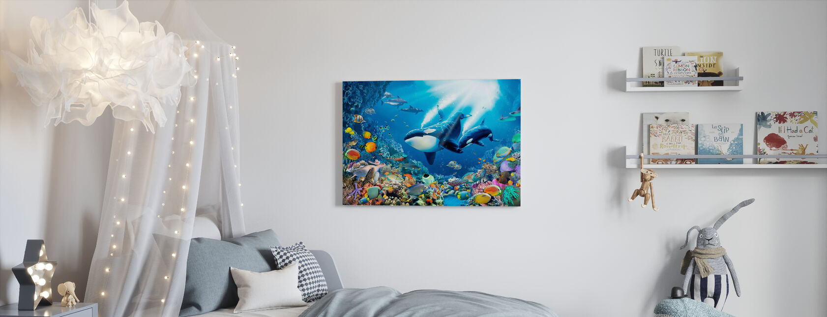 Killer Whales - Canvas print - Kids Room