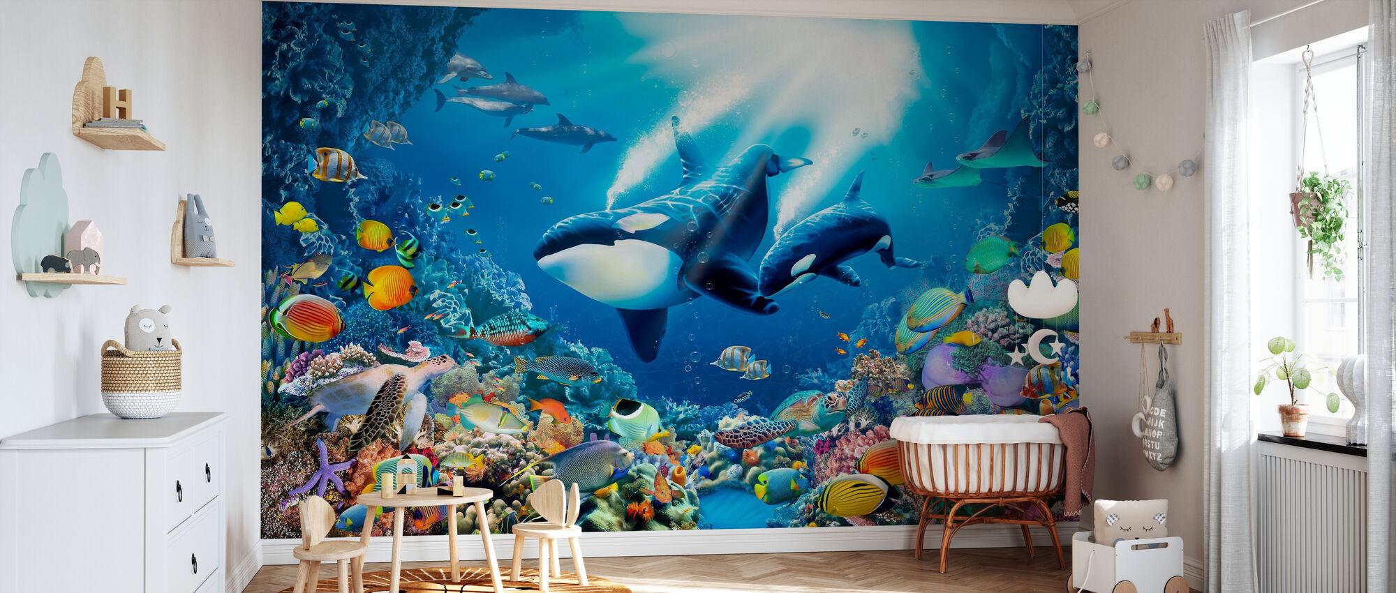 Killer Whales - Wallpaper - Nursery