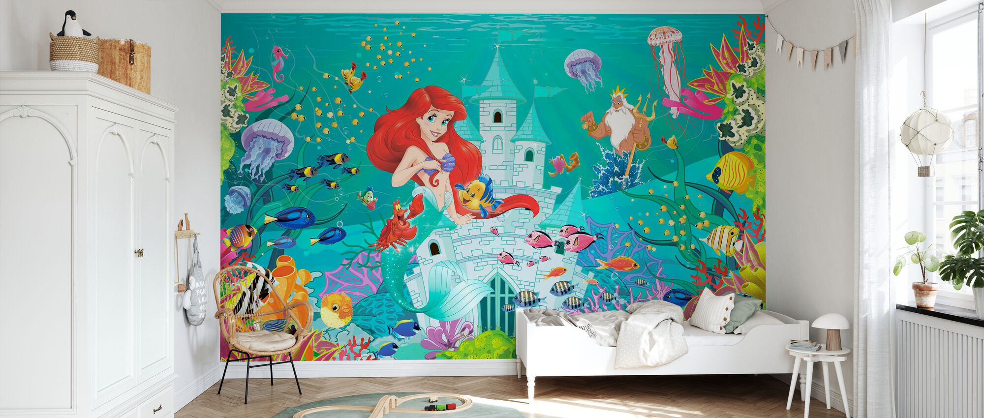 Mermaid Castle - Wallpaper - Kids Room