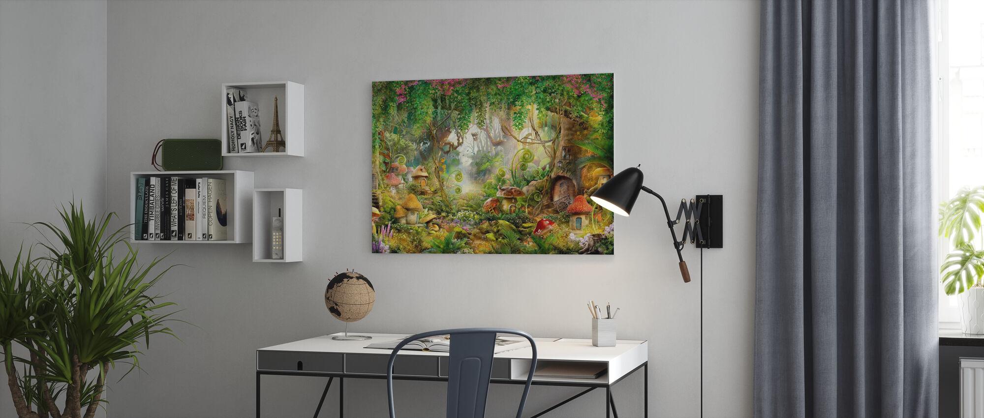 Mushroom Village - Canvas print - Office