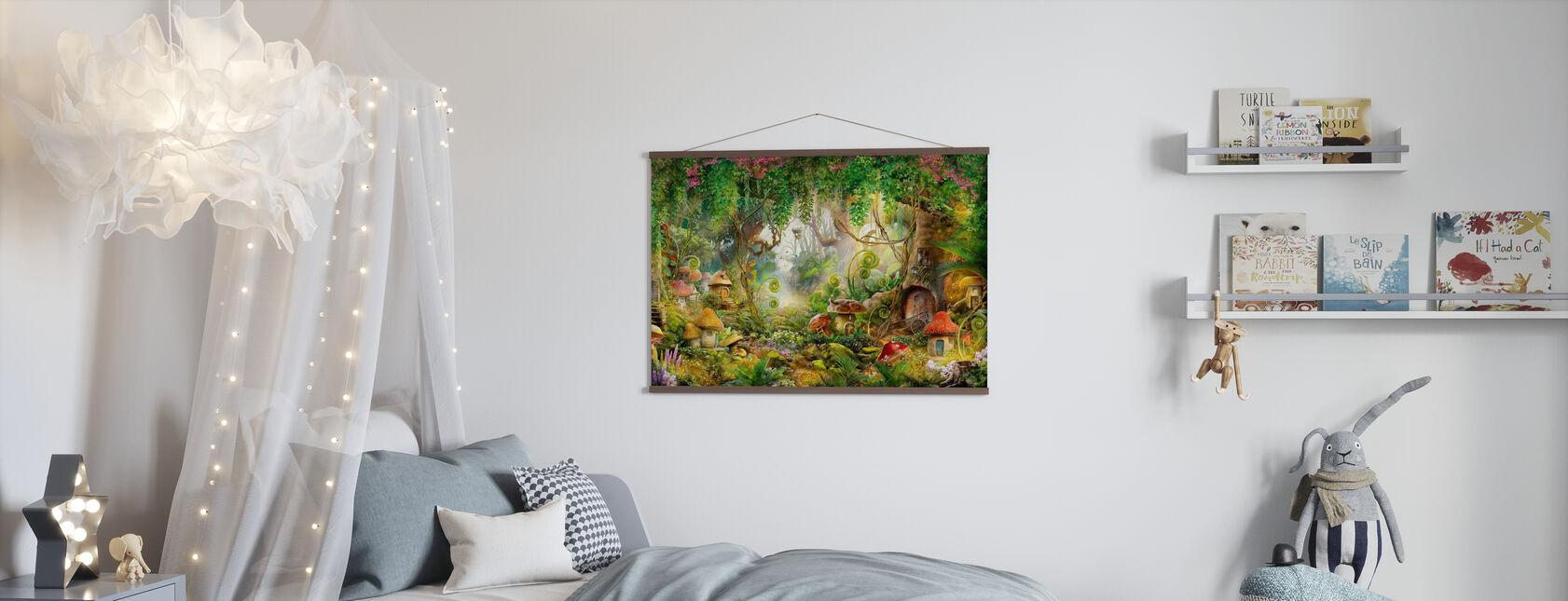 Mushroom Dorp - Poster - Kinderkamer