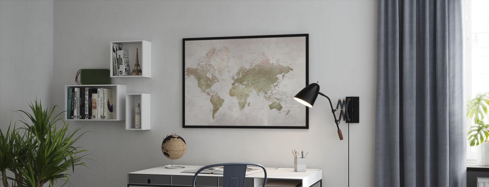 Mapa świata - Smoky - Plakat - Biuro