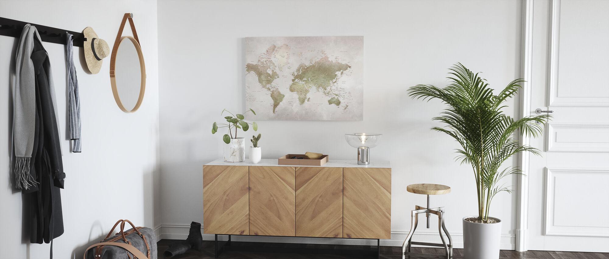 World Map - Smoky - Canvas print - Hallway