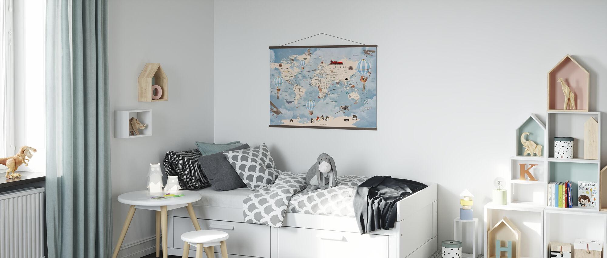 Dieren Home Kaart - Poster - Kinderkamer
