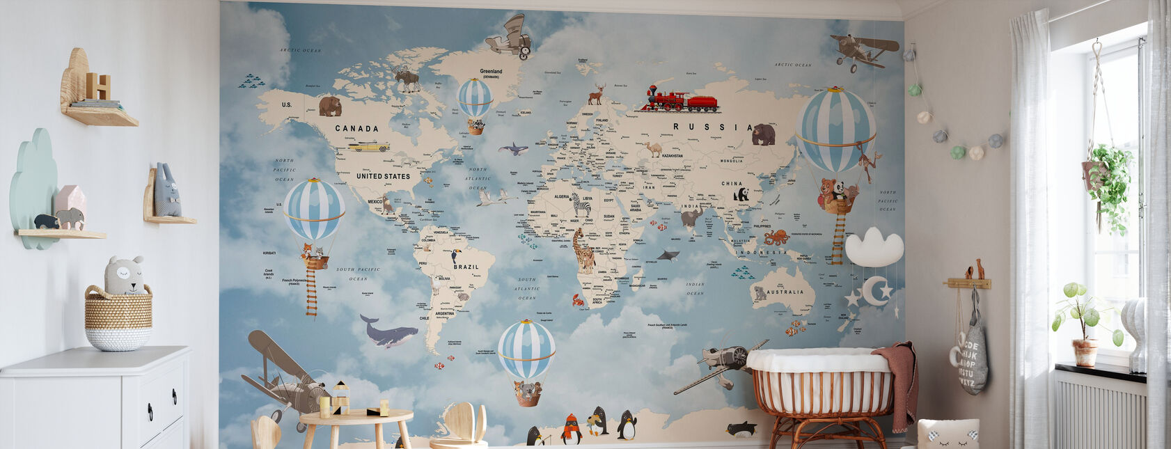 Animals Home Map - Wallpaper - Nursery