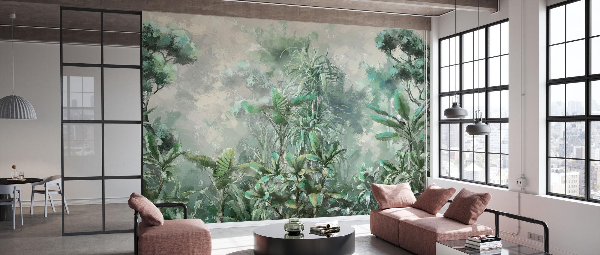 Jungle Mist - Wallpaper - Office