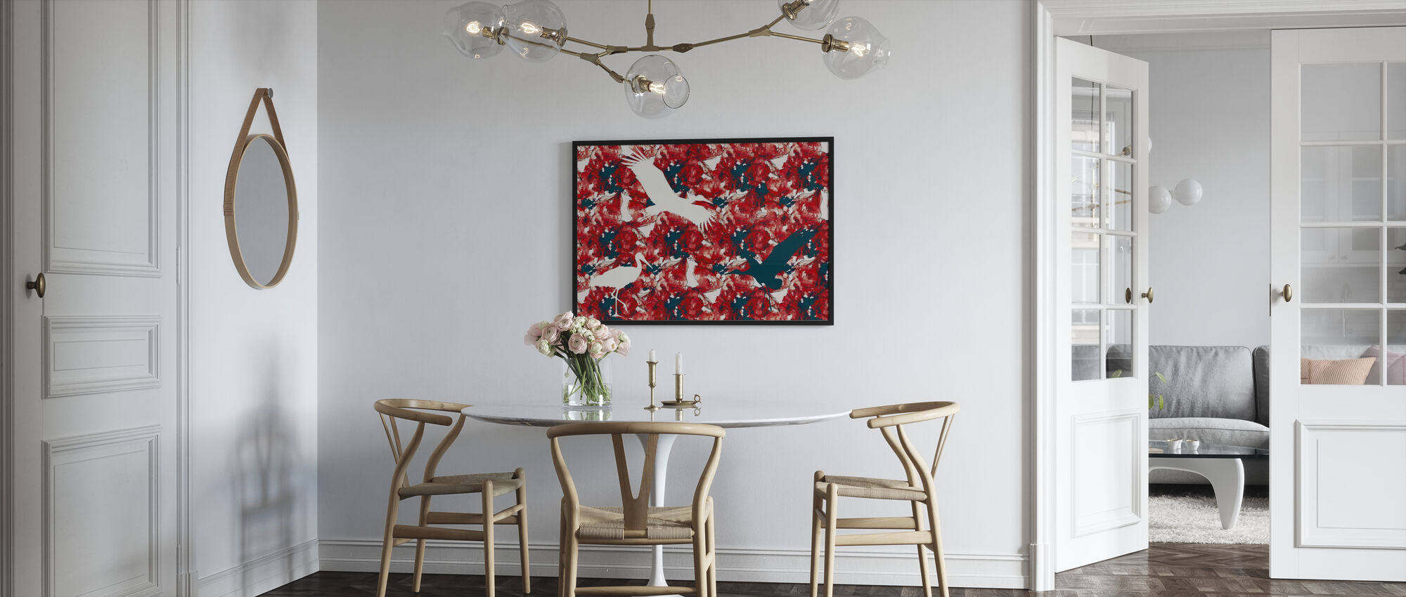 Stork on Watercolor - Poster - Kitchen