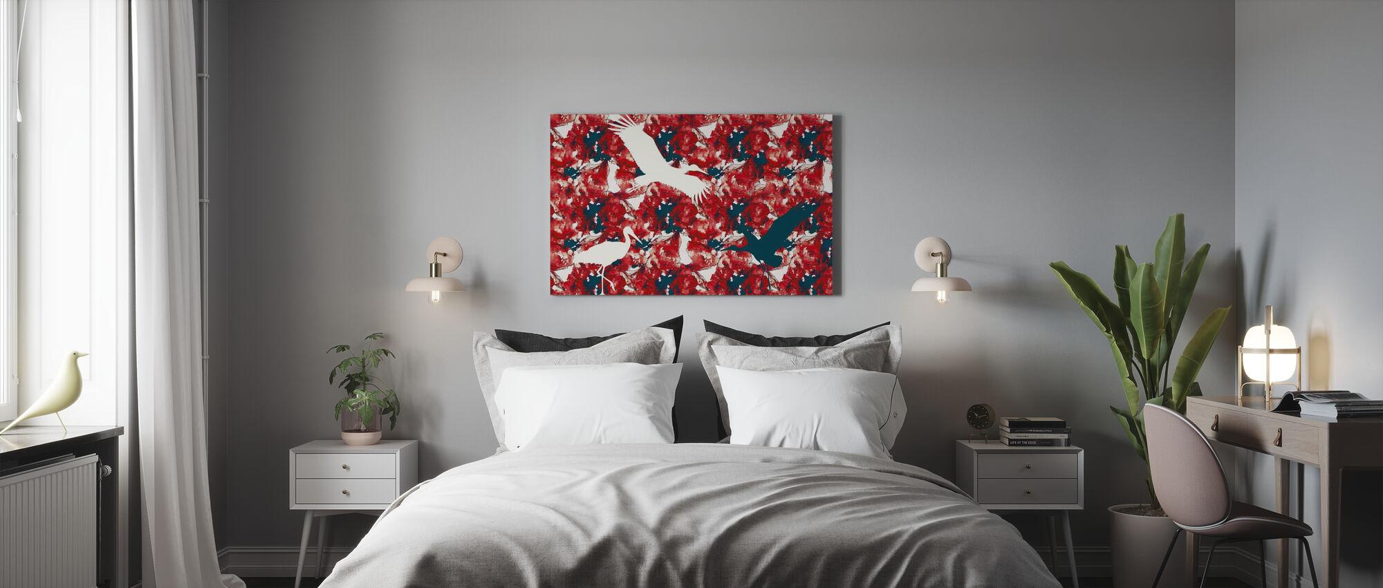 Stork on Watercolor - Canvas print - Bedroom