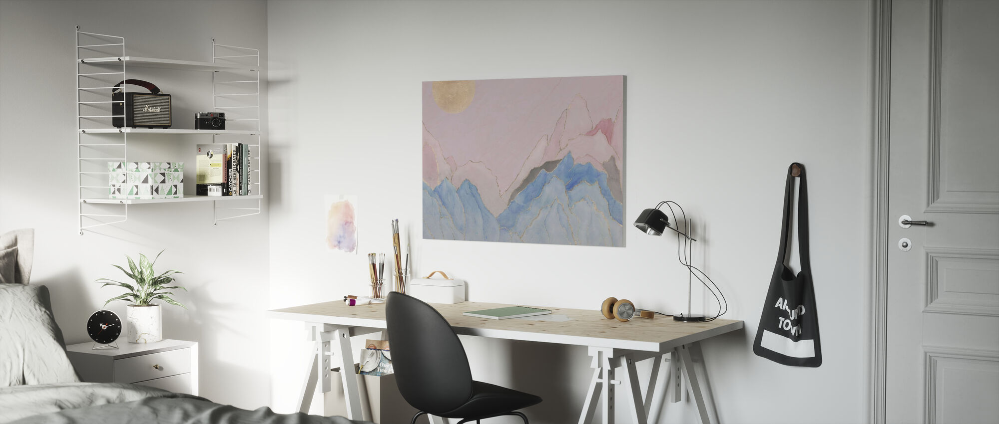 Angulariteit - Roze - Canvas print - Kinderkamer