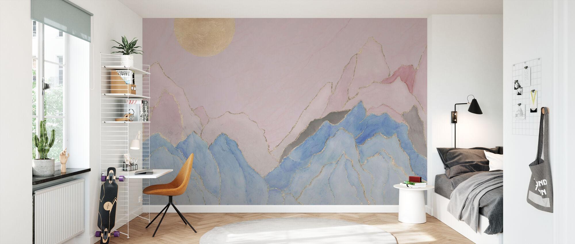 Angularity - Pink - Wallpaper - Kids Room