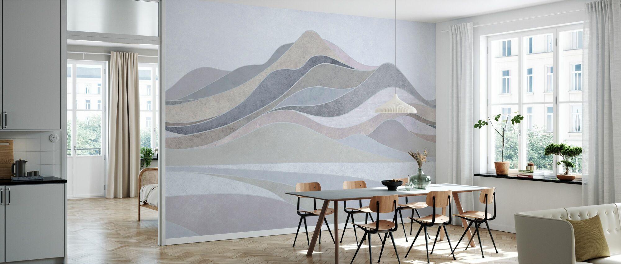 Concord Landscape - Gray - Wallpaper - Kitchen
