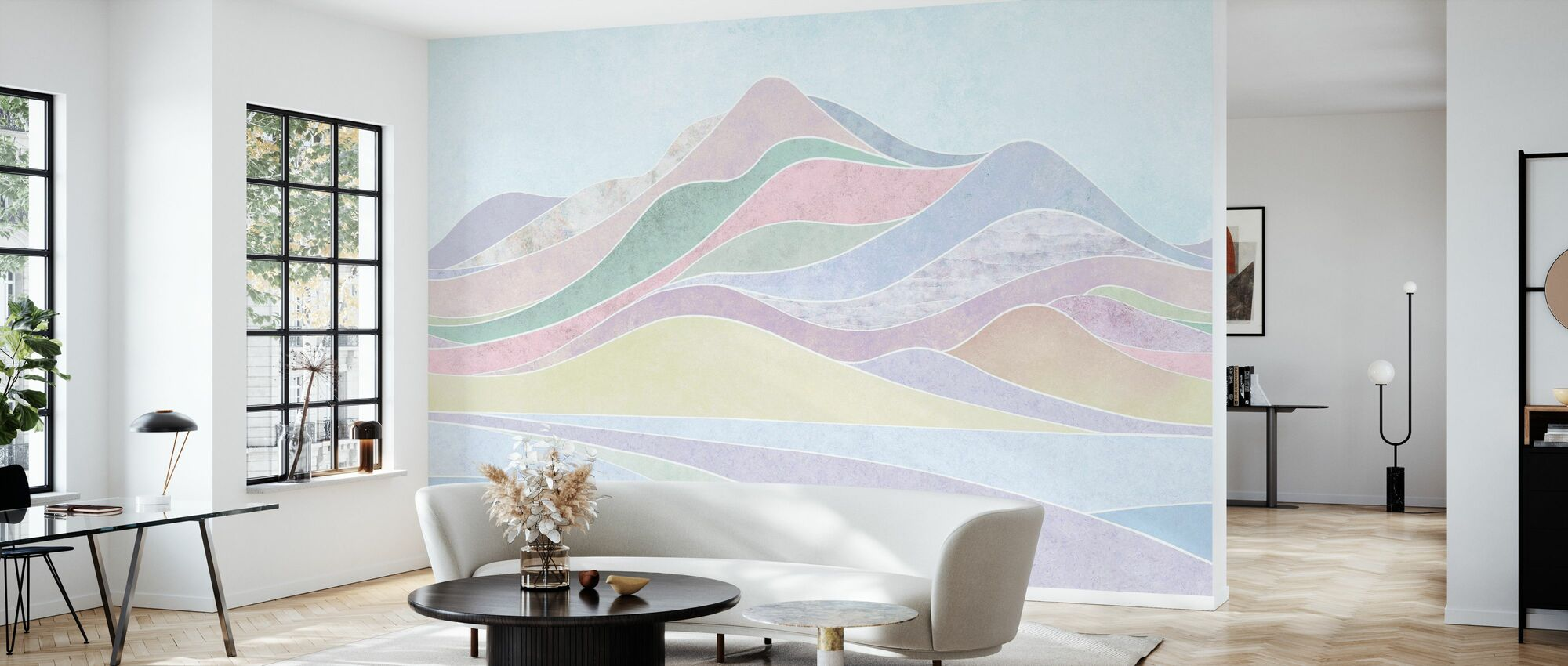 Concord Landskap - Pastell - Tapet - Stue