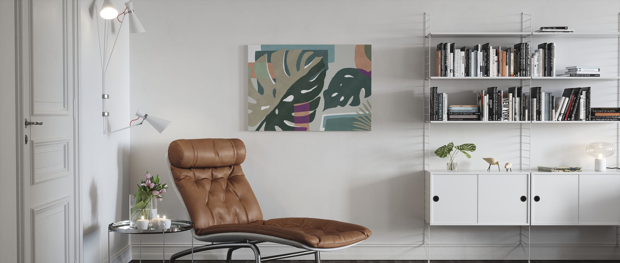 Monstera Amazonica - Canvas print - Woonkamer