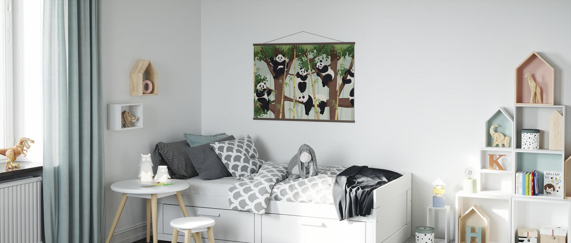 Panda Trær - Plakat - Barnerom