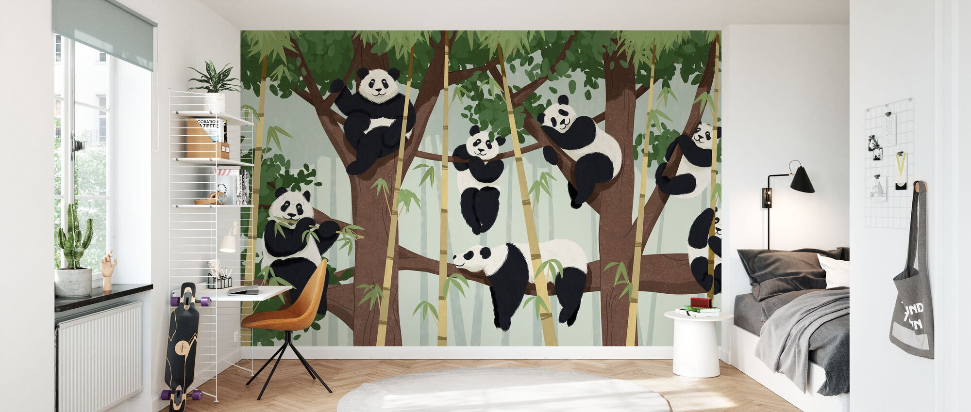 Panda Trees - Wallpaper - Kids Room