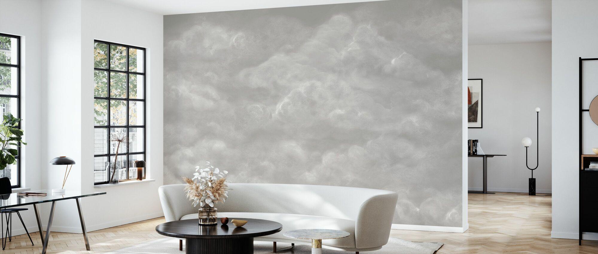 Tender Wolken - Beige - Behang - Woonkamer