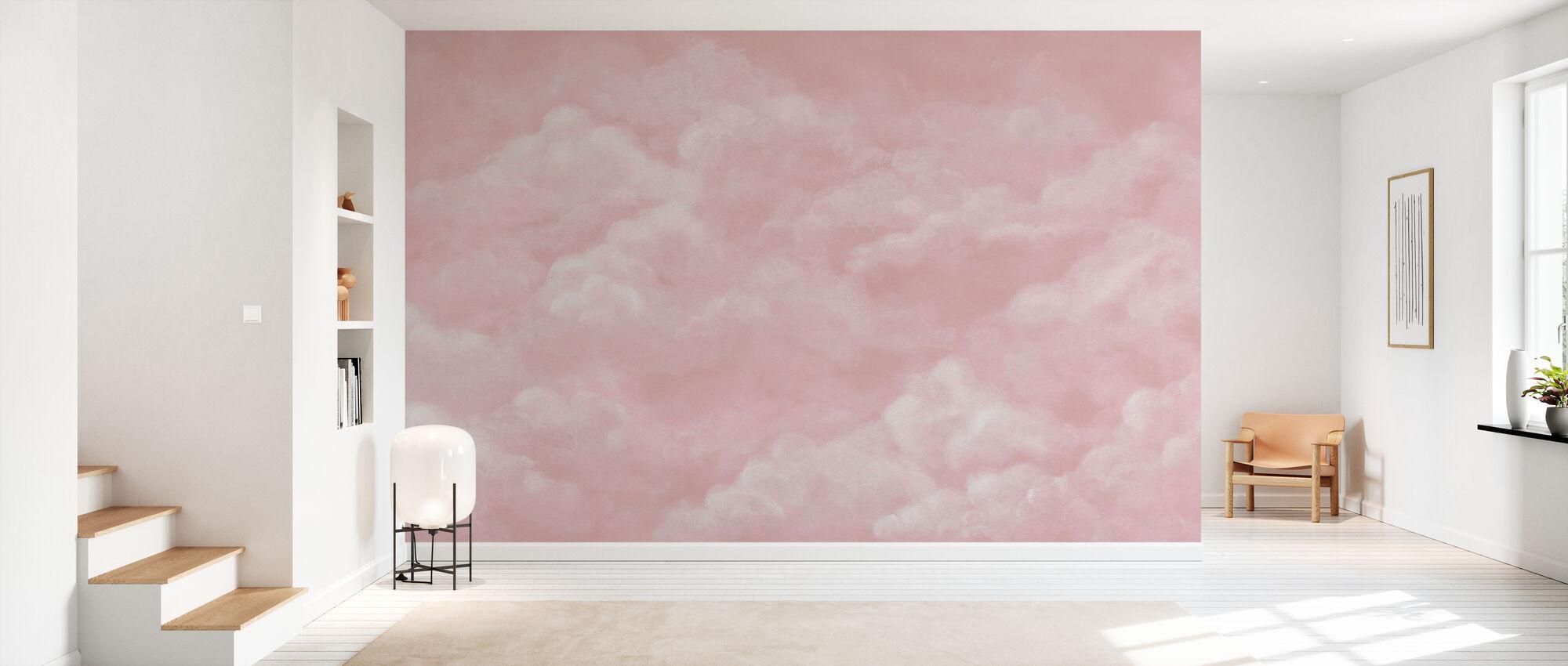 Tender Clouds - Pink - Wallpaper - Hallway