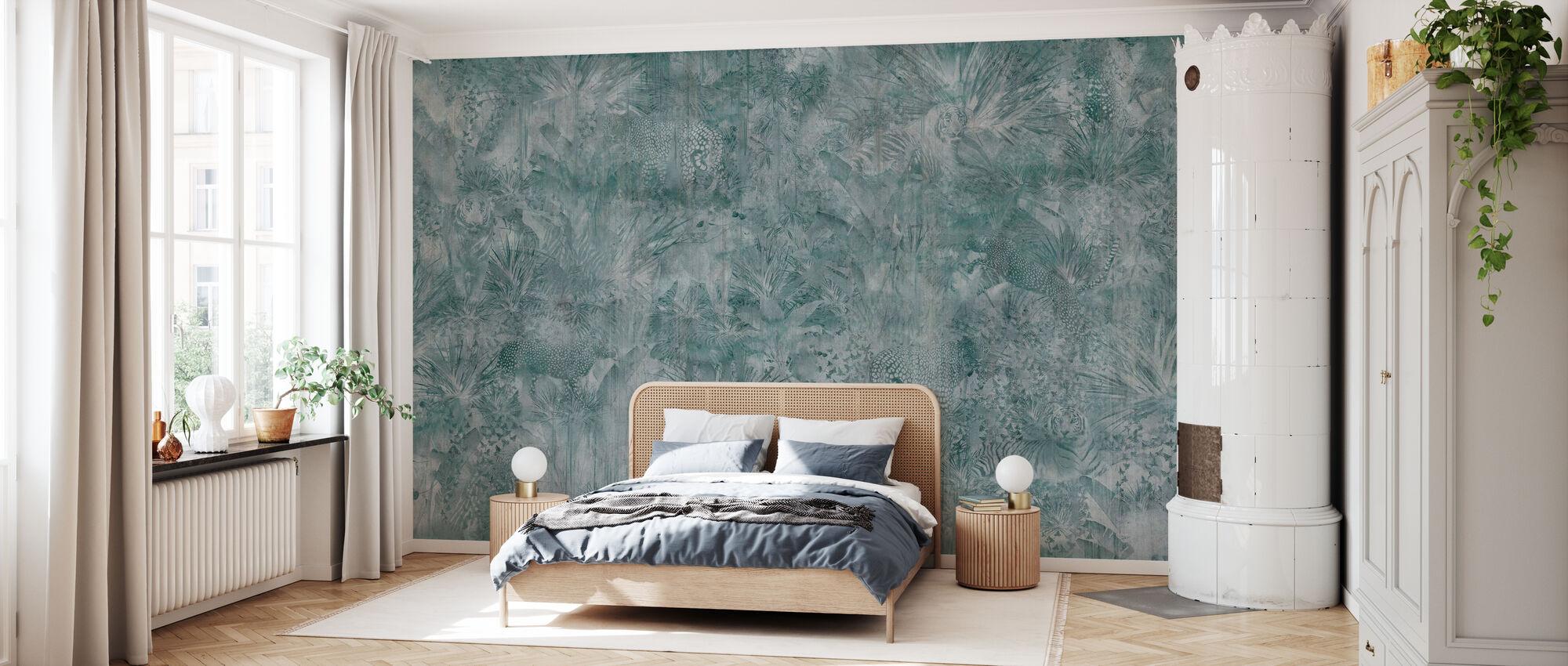 Tropische Panter - Groen - Behang - Slaapkamer