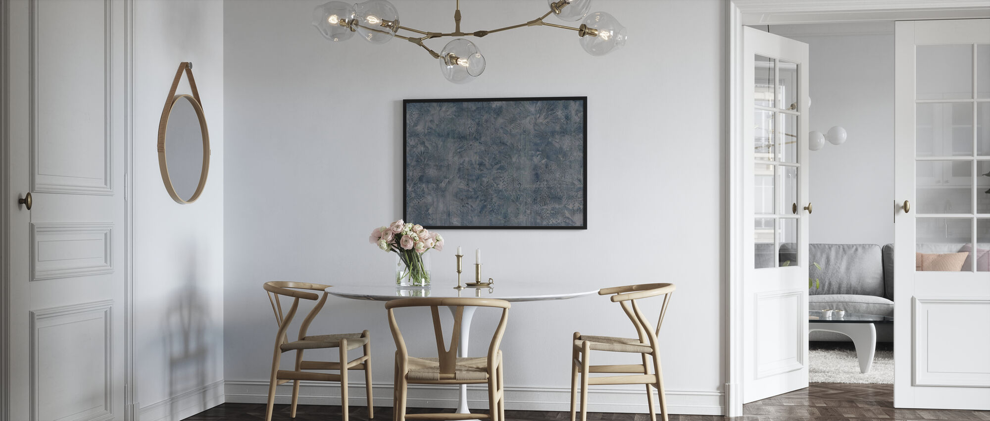 Tropical Panther - Indigo Ash - Framed print - Kitchen