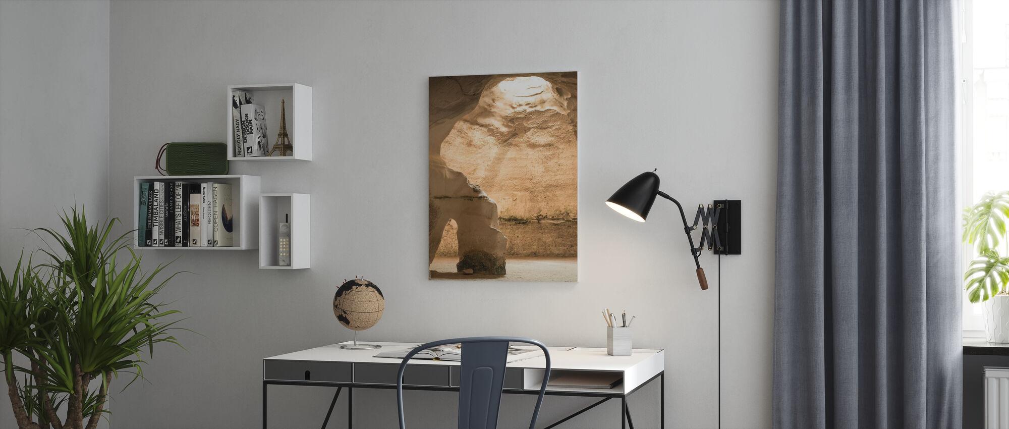 Höhlenlicht - Leinwandbild - Büro