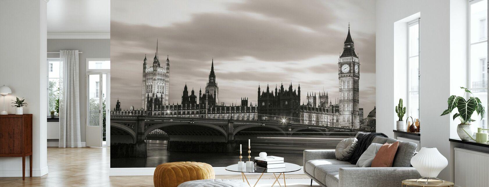 London Westminster - Sepia - Wallpaper - Living Room