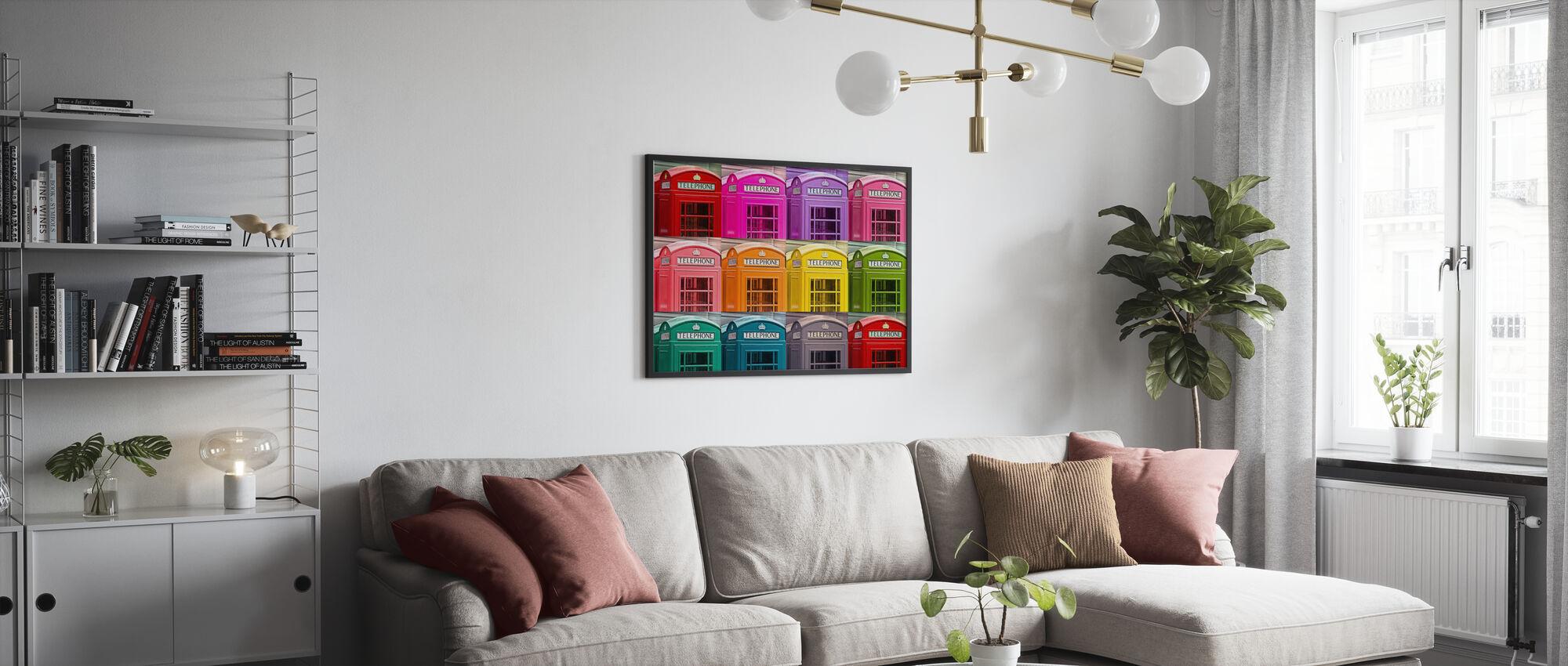 London Telephone Box Set - Poster - Living Room