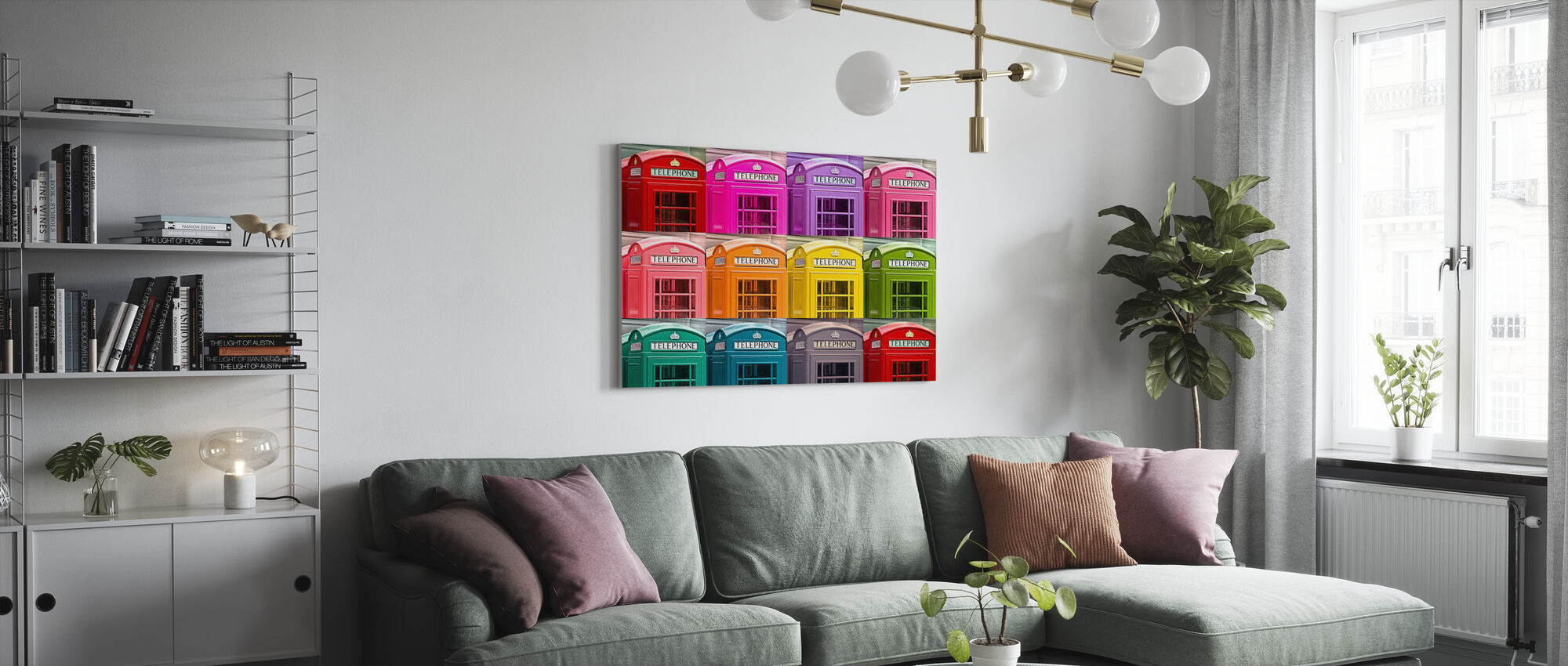 London Telephone Box Set - Canvas print - Living Room