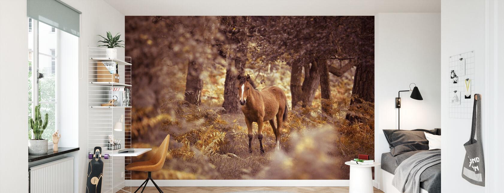 Vild häst - Tapet - Barnrum