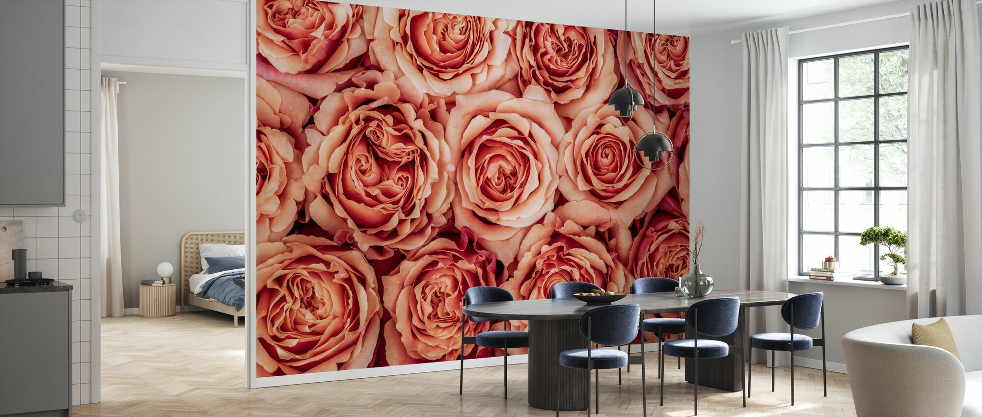 Roses - Wallpaper - Kitchen