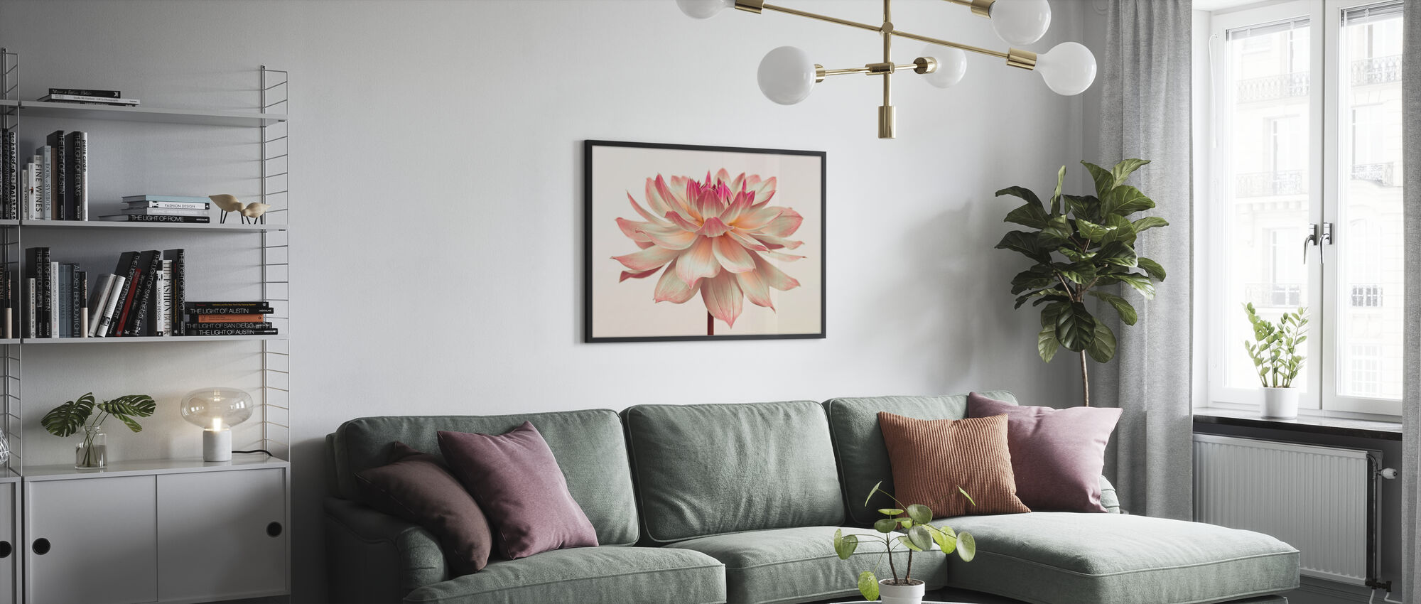 Dahlia Flower - Framed print - Living Room