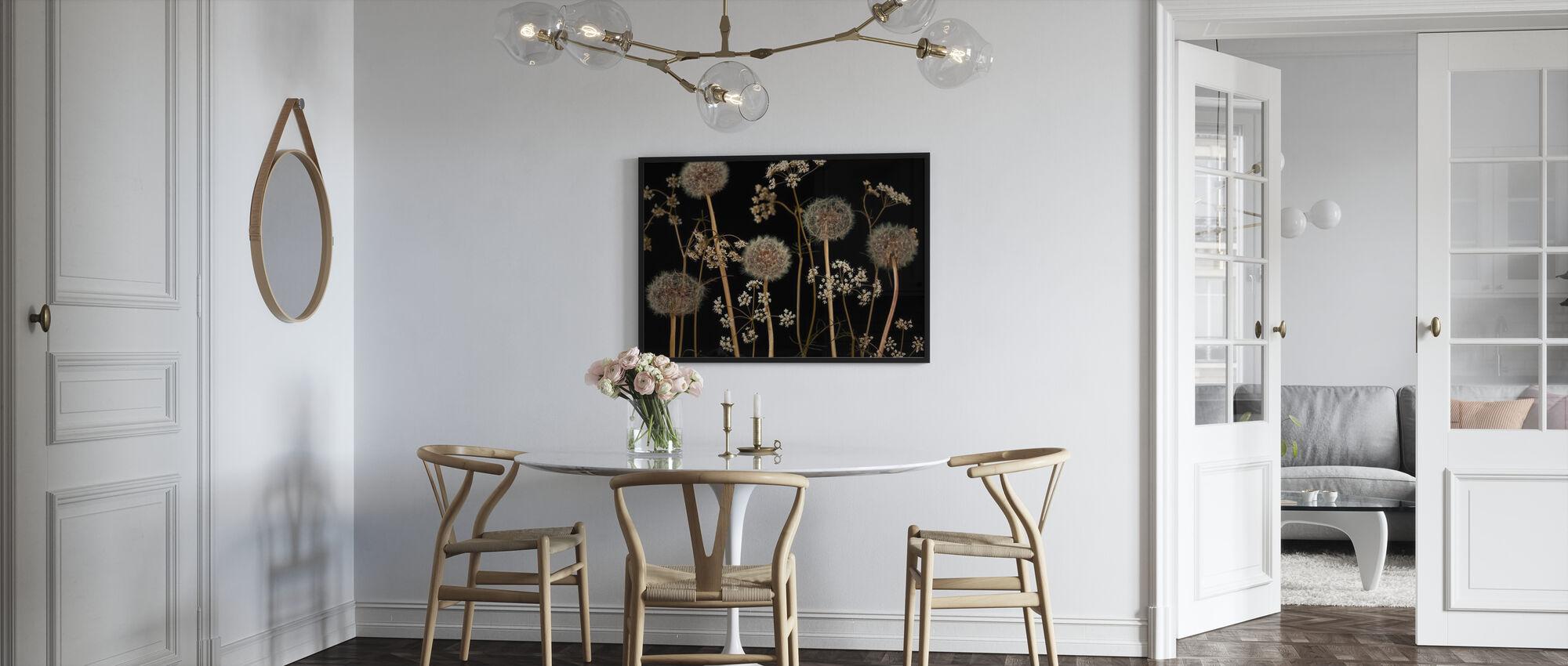 Wiesenblumen - Dunkelbraun - Poster - Küchen