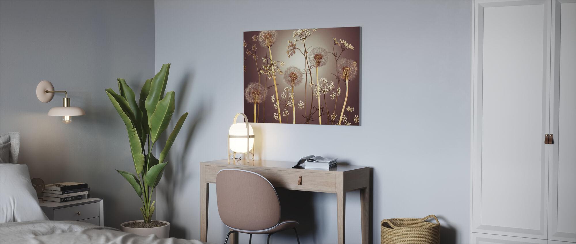 Meadow Flowers - Hazel - Canvas print - Office