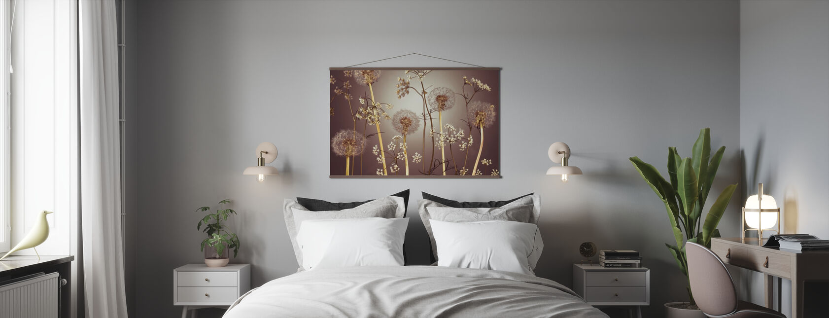Weide Bloemen - Hazel - Poster - Slaapkamer