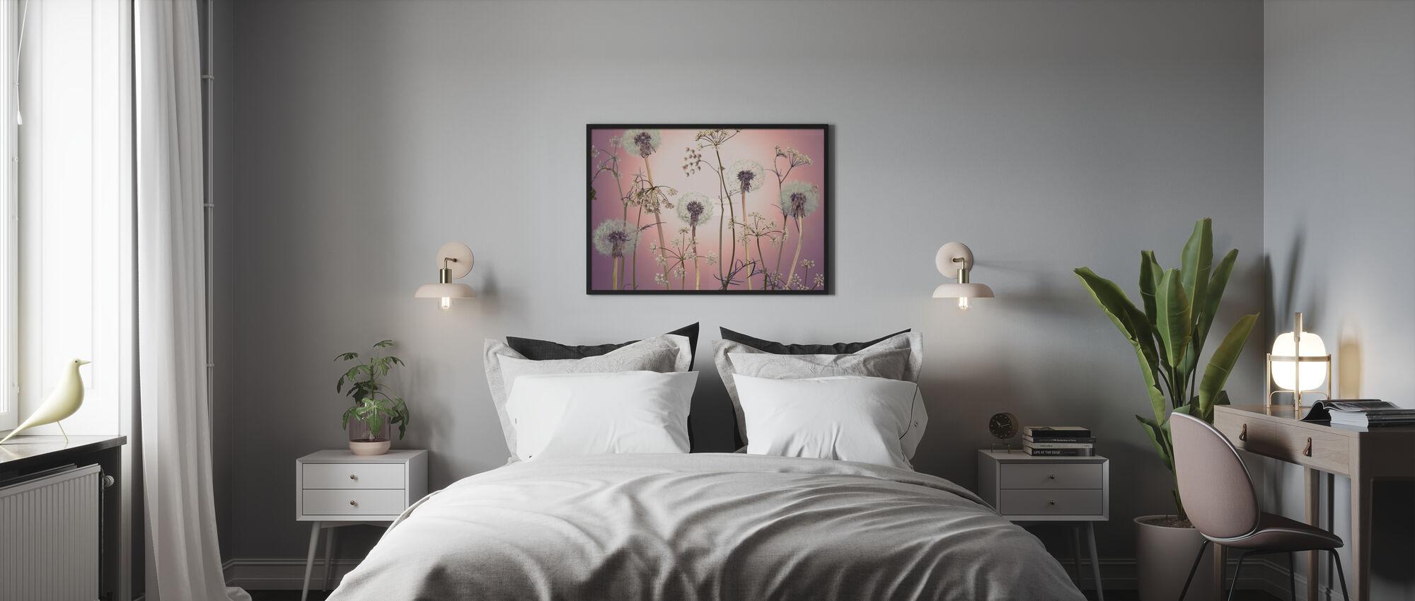 Eng Blomster - Rosa - Plakat - Soverom