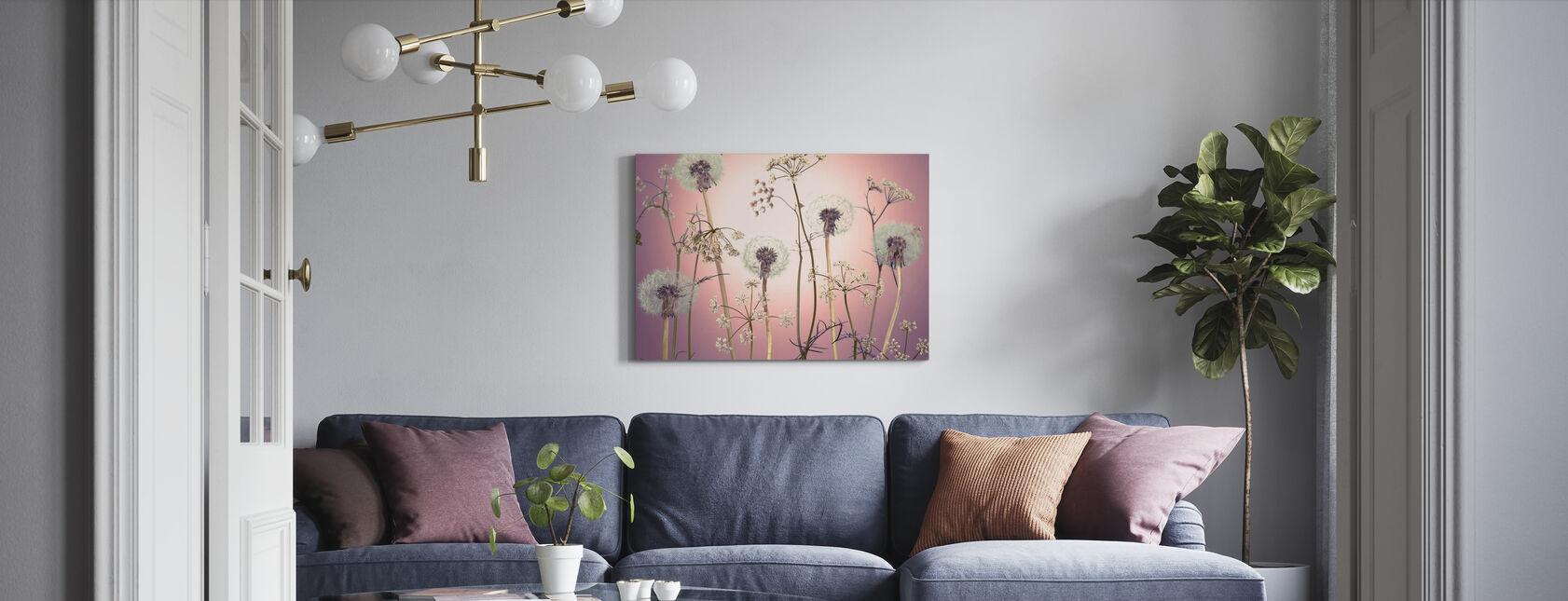 Meadow Flowers - Pink - Canvas print - Living Room