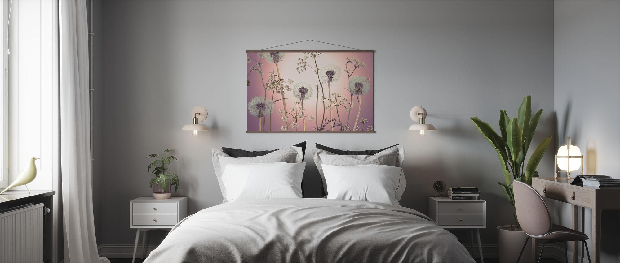Weide Bloemen - Roze - Poster - Slaapkamer